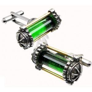 【送料無料】メンズアクセサリ― ピューターカフスボタンブランドalchemy empire steampunk miasmatic reactor core pewter cufflinks brand