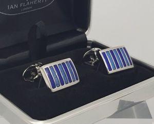 【送料無料】メンズアクセサリ― ストライプカフスボタンスタイリッシュクラシックメンズカフリンクスrectangular tonal blue striped cufflinks stylish classic mens cufflinks