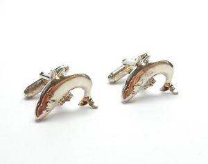 【送料無料】メンズアクセサリ― サケロンドンスターリングシルバーgcufflinks salmon fish london 1998 925 sterling silver gents 122g
