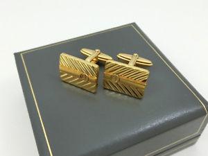 【送料無料】メンズアクセサリ― ダンヒルカフスボタンゴールドデザインボックスビジネススーツbeautiful dunhill cufflinks gold design and box vintage business suit jewelry