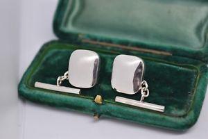 【送料無料】メンズアクセサリ― スターリングシルバーミラーポリッシュチェーンカフリンクスsterling silver rectangle chain cufflinks with a mirror polished finish