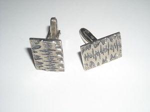 【送料無料】メンズアクセサリ― ヴィンテージカフスボタンシルバーカフスbeautiful vintage cufflinks 835 silver cuffs modernist