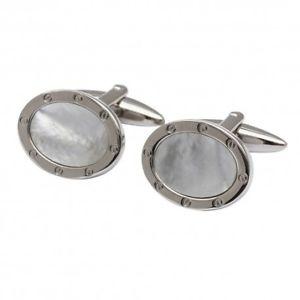 【送料無料】メンズアクセサリ― ポートカフリンクスエディションmother of pearl port hole cufflinks oval edition