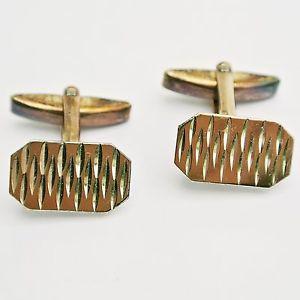 【送料無料】メンズアクセサリ― シルバーカフリンクスゴールド9ct gold on silver cufflinks