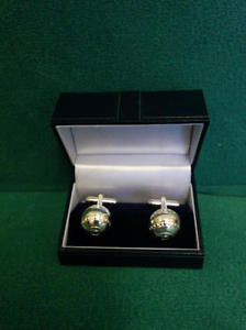 【送料無料】メンズアクセサリ― ボウリングボールカフスボタンbowling ball cufflinks  silver plated