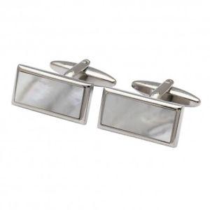 【送料無料】メンズアクセサリ― カフリンクスmother of pearl rectangle cufflinks