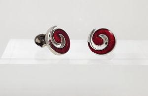 【送料無料】メンズアクセサリ― イアンフラハティブライトレッドスワールカフスボタンメンズレディースカフスボタンian flaherty bright red swirl cufflinks hand made mens and ladies cufflinks