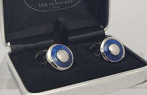 【送料無料】メンズアクセサリ― エナメルカフスボタンイアンフラハティメンズアクセサリーアクセサリblue enamel cufflinks,ian flaherty,mensgift,mens accessories,wedding accessories