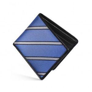 【送料無料】メンズアクセサリ― dalvey rfidレザーヘリンボンdalvey rfid wallet leather and blue herringbone stripe