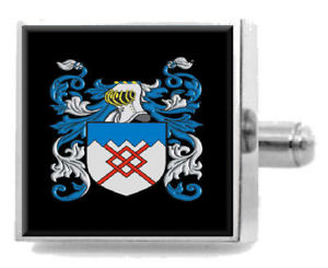 【送料無料】メンズアクセサリ― ヘッドカフスリンクケースhead england family crest surname coat of arms cufflinks personalised case