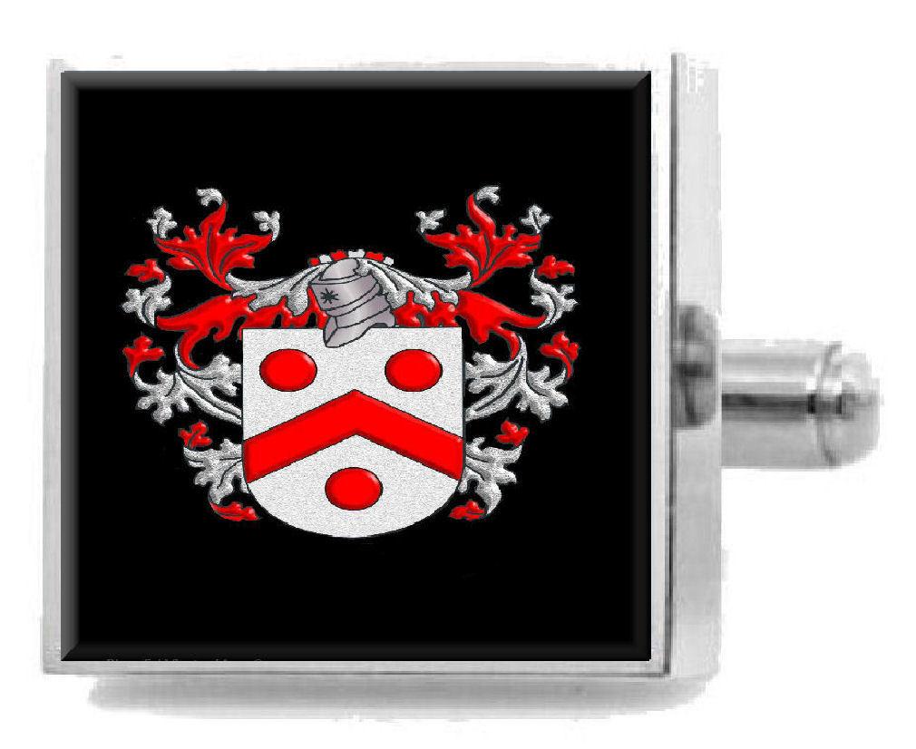 【送料無料】メンズアクセサリ― イングランドアームカフリンクスパーソナライズケースファミリークレストコートbaskerville england family crest coat of arms cufflinks personalised case