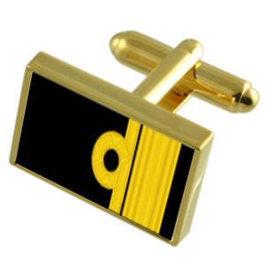 【送料無料】メンズアクセサリ― ランクカフスリンクメッセージボックスroyal navy insignia rank rear admiral goldtone cufflinks engraved message box