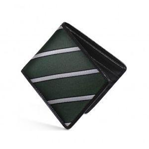 【送料無料】メンズアクセサリ― レザーヘリンボーンシルクストライプdalvey rfid wallet luxury leather amp; green herringbone silk stripe
