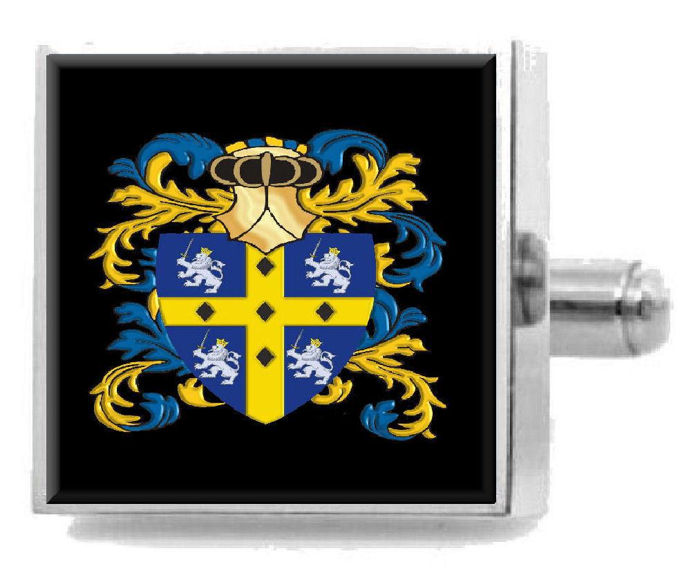 【送料無料】メンズアクセサリ― ダラムイギリスアームカフリンクスパーソナライズケースコートdurham england family crest surname coat of arms cufflinks personalised case