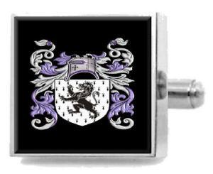 【送料無料】メンズアクセサリ― ジョーンズアイルランドカフスリンクケースjones ireland family crest surname coat of arms cufflinks personalised case