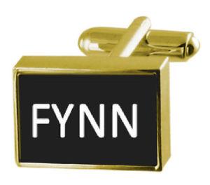【送料無料】メンズアクセサリ― ボックスカフリンクスengraved box goldtone cufflinks name fynn