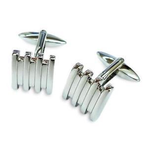 【送料無料】メンズアクセサリ― シルバーバーカフリンクスsilver bars cufflinks