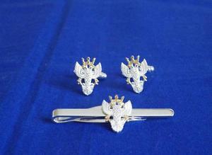 【送料無料】メンズアクセサリ― カフリンクタイグリップクリップセットmercian regiment cuff link and tie grip clip set