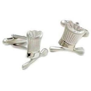 【送料無料】メンズアクセサリ― シェフスプーンカフリンクスchefs hat spoon cufflinks