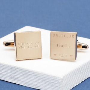 【送料無料】メンズアクセサリ― カフリンクスmodern heart wedding cufflinks engraved