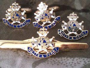 【送料無料】メンズアクセサリ― ダービーカフスボタンバッジネクタイクリップセットnotts and derby cufflinks, badge, tie clip gift set