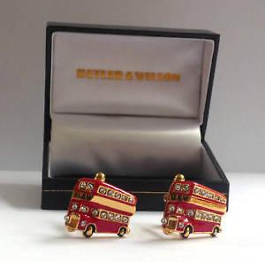【送料無料】メンズアクセサリ― バトラーウィルソンエナメルクリスタルロンドンバスボックスbutler and wilson enamel crystal london l bus cufflink box