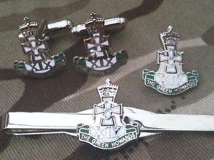 【送料無料】メンズアクセサリ― カフリンクスバッジネクタイクリップセットgreen howards cufflinks, badge, tie clip gift set