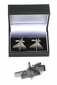 【送料無料】メンズアクセサリ― バルカンカフスボタンタイクリップバースライドセットavro vulcan cufflinks amp; tie clip bar slide set raf plane gift