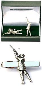 【送料無料】メンズアクセサリ― ゲームシューターカフスボタンタイクリップバースライドメンズクレーピジョンセットgame shooter cufflinks amp; tie clip bar slide mens gift set clay pigeon present