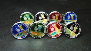 【送料無料】メンズアクセサリ― コインカフスボタンペンスゴルフプレーヤーisle of man coin cufflinks 5 pence golf player