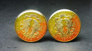【送料無料】メンズアクセサリ― ブータンコインカフリンクスbhutan coin cufflinks