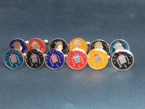 【送料無料】メンズアクセサリ― エナメルコインペニーカフリンクスbritish enamelled coin cufflinks one penny birth or anniversary year