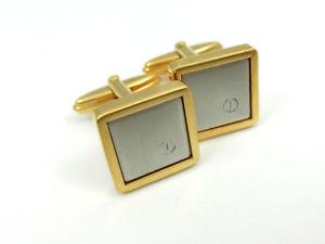 【送料無料】メンズアクセサリ― ダンヒルカフスボタンゴールド×シルバービンテージスーツbeautiful dunhill cufflinks gold x silver vintage business suit jewelry