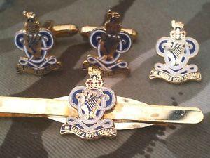 【送料無料】メンズアクセサリ― クイーンズロイヤルカフリンクスバッジネクタイクリップセットqueens royal hussars cufflinks, badge, tie clip gift set