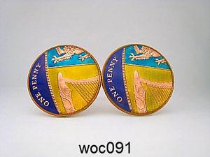 【送料無料】メンズアクセサリ― エナメルコインカフリンクスパターンペニーbritish enamelled coin cufflinks one penny choice of pattern