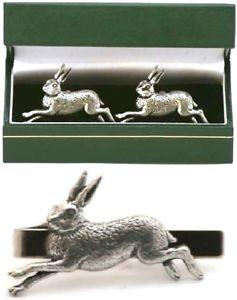 【送料無料】メンズアクセサリ― カフスボタンタイクリップバーメンズスライドゲームセットrunning hare cufflinks amp; tie clip bar slide mens set game shooting gift