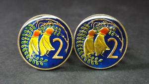 【送料無料】メンズアクセサリ― ニュージーランドエナメルコインカフスボタンセント zealand enamelled coin cufflinks 2 cents