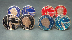 【送料無料】メンズアクセサリ― ブリティッシュエナメルコインカフリンクスペニーuk british enamelled coin cufflinks one penny 2008 2015 choice of year