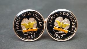 【送料無料】メンズアクセサリ― ニューギニアエナメルコインカフリンクスエナメルコイン guinea enamelled coin cufflinks enameled coin