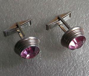 【送料無料】メンズアクセサリ― カフスリンクヴィンテージmensカフスリンク19601970silvertone sparklingcufflinks vintage mens cuff links 1960s 1970s silvertone sparkling stone