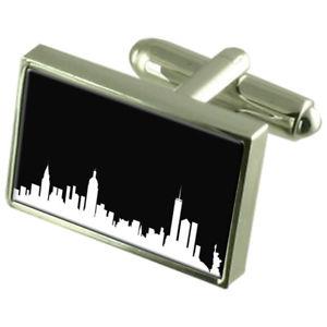 【送料無料】メンズアクセサリ― スカイラインポーチニューヨークカフリンクスskyline york cufflinks with pouch