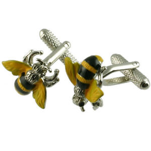 【送料無料】メンズアクセサリ― カフリンクスカフスボタンカフリンクスcuff links bumble bee honey cufflinks animal cufflinks select gift pouch