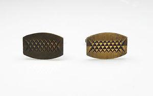 【送料無料】メンズアクセサリ― シルバービンテージバーミンガムカフスボタンvintage birmingham 1969 gold on 925 silver gents patterned cufflinks 78g