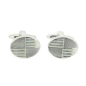 【送料無料】メンズアクセサリ― トーマスブラウンボックスフィネスカフリンクスthomas brown gents oval finesse silvertone metal cufflinks in gift box
