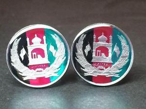 【送料無料】メンズアクセサリ― アフガニスタンコインカフリンクスafghanistan coin cufflinks