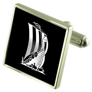 【送料無料】メンズアクセサリ― ポーチバイキングカフリンクスviking longboat cufflinks with pouch