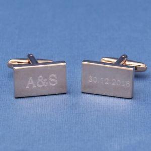 【送料無料】メンズアクセサリ― ローズゴールドウェディングカフスリンクイニシャルデートrose gold wedding cufflinks initials and date