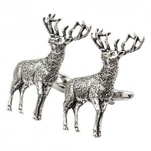 【送料無料】メンズアクセサリ― シロメジカカフスリンクpewter stag cufflinks