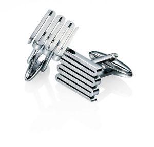 【送料無料】メンズアクセサリ― フレッドベネットステンレススチールリブカフリンクスfred bennett stainless steel ribbed cufflinks