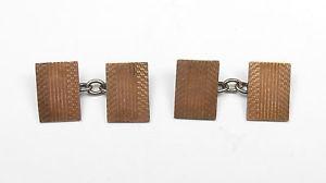 【送料無料】メンズアクセサリ― スターリングシルバーカフスボタンビンテージゴールドvintage gold on 925 sterling silver patterned gents cufflinks 54g